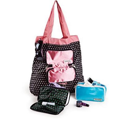 優雅女士化妝包購物袋