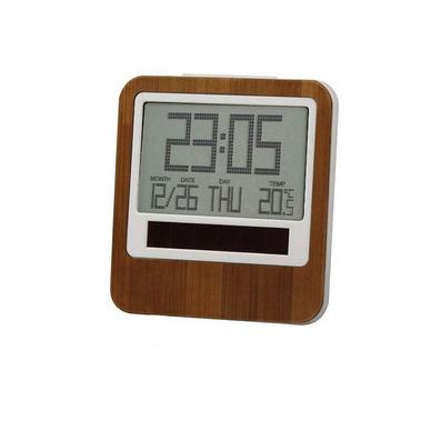 法國LEXON樂上能源竹子材料LCD時鐘鬧鐘