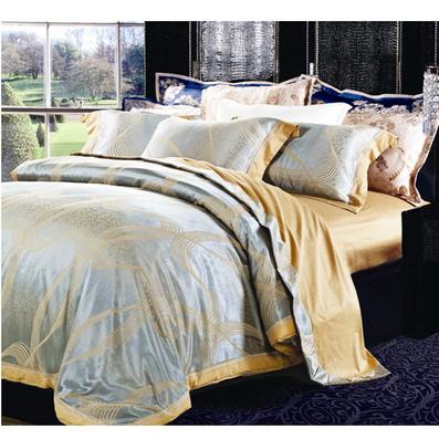 新品天絲提花繡花床品四件套 舒適床品四件套