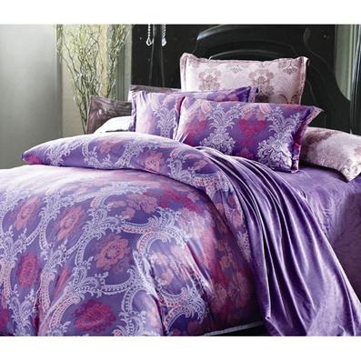 絲綢印花家紡四件套 絲綢床品四件套