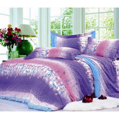 紫色薰衣草活性磨絨家紡四件套