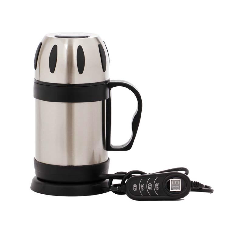卡克大胃王 车载电热杯 液晶数码显示 750ML大容量车载电热水壶