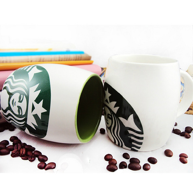 星巴克杯 限量酒桶杯马克杯咖啡杯 陶瓷杯子创意水杯定制