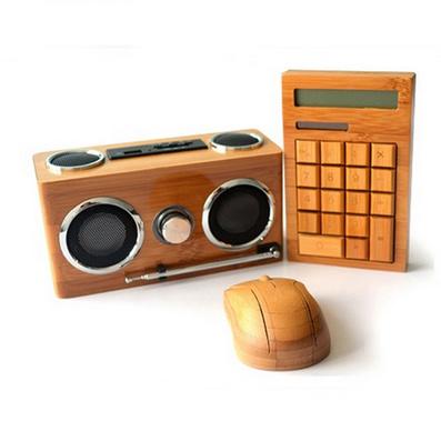 原生態竹木計算器音箱鼠標套裝 竹木鼠標套裝