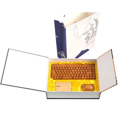原生態竹木移動電源鼠標鍵盤套裝 竹木移動電源套裝定做