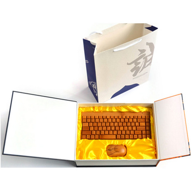 原生態竹木鼠標鍵盤套裝 原生態商務禮品套裝