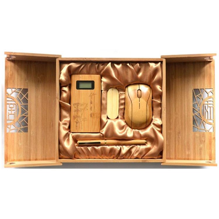 原生態竹子禮品U盤商務禮品套裝 竹木移動電源套裝