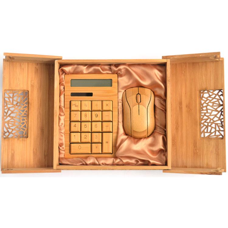 原生态竹木计算器 鼠标套装 竹木鼠标计算器套装