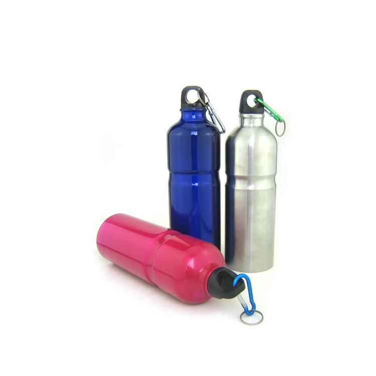 750ml鋁制縮腰單層運動水壺自行車水瓶戶外登山壺定制
