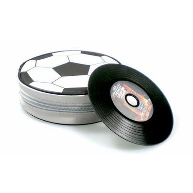 24片裝足球CD包 禮品CD包 皮革CD包