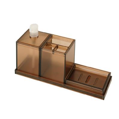 浴室三件套 浴室用品牙刷筒肥皂盒帶泵洗漱洗盥三件套定制