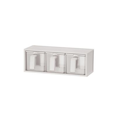 調味瓶罐創意衛生廚房透明帶勺蓋 調味盒定制