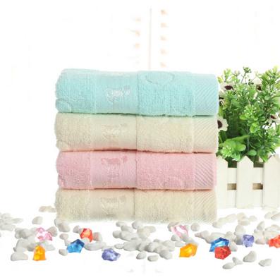 蝴蝶紋毛巾浴巾三件套   純棉浴巾毛巾件套