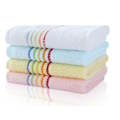 彩虹毛巾浴巾三件套 纯棉毛巾浴巾件套定做