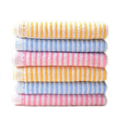 橫條雨點毛巾兩件套