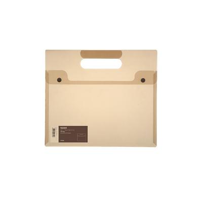 文件袋PP便攜A4資料檔案 雙扣手提文件袋定制