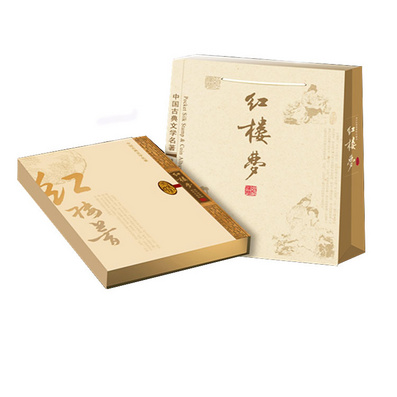 四大名著丝绸邮票册《红楼梦》出国外事文化礼品珍藏银币
