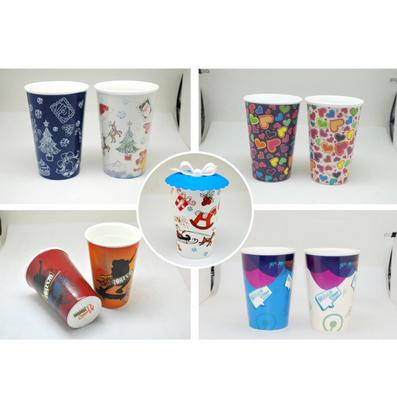 星巴克單層陶瓷杯 變色杯馬克杯定制