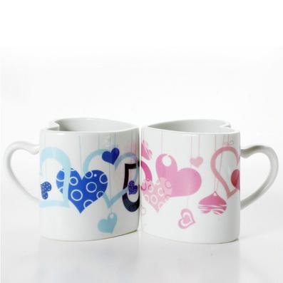 心型情侶對杯 咖啡杯 陶瓷變色杯