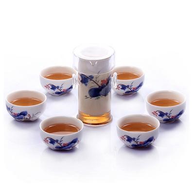 耐熱玻璃茶具7件套裝 整套泡茶器定制