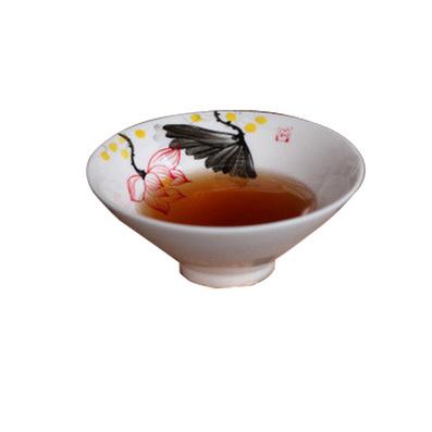 景德镇青花瓷茶杯手绘荷花陶瓷套装 品茗杯 日式功夫茶具斗笠形状