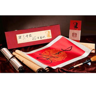 立体织锦卷轴画套装  宏寿千载  福泽万代
