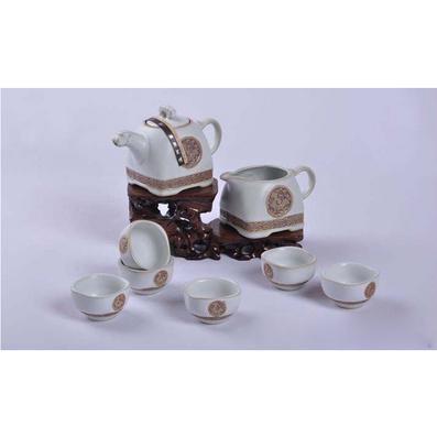 汝窯茶具套裝正品 蟬翼開片 整套汝瓷功夫茶藝批發茶壺