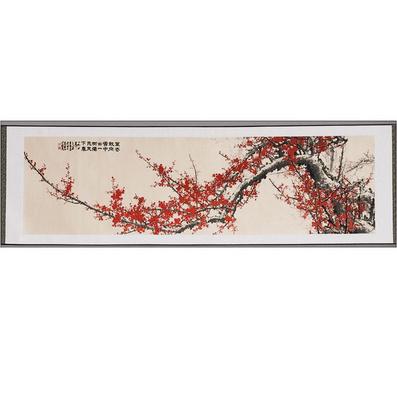 立体织锦画《红梅争春》 中国丝绸画  商务外事礼品