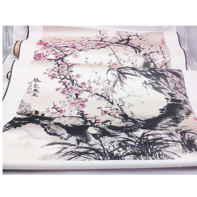 絲綢版名畫《紫氣東來》真絲彩色立體織錦畫