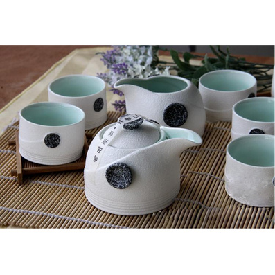 雪花釉茶具 窯變玉雪玲瓏茶具 高檔珍珠禮品套裝