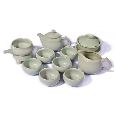 汝窑茶具套装正品仿宋开片汝瓷整套陶瓷功夫泡茶器茶壶海杯滤网