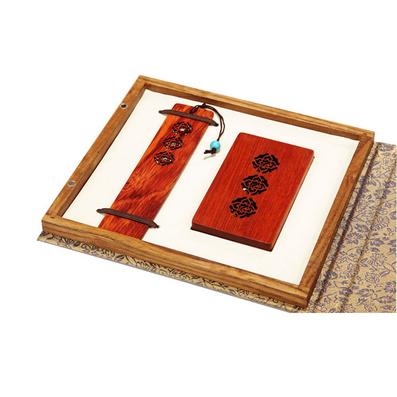 高檔窗欞書簽名片夾禮盒套裝