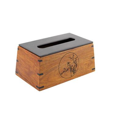 漢風紙巾盒 紫光檀花梨木紙巾盒
