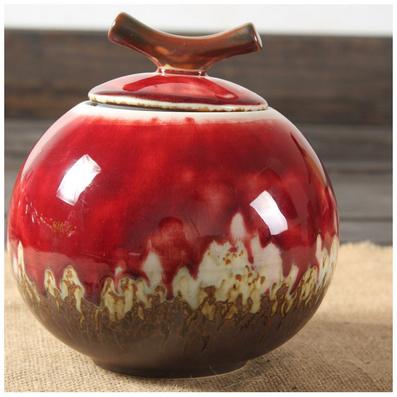 茶葉罐密封存茶罐 窯變手工制硅膠密封瓷器色釉茶具定制
