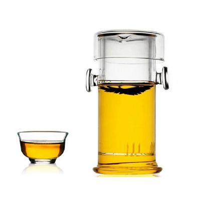 耐高溫玻璃雙耳壺 普洱/紅/花茶泡茶器 功夫茶具套裝