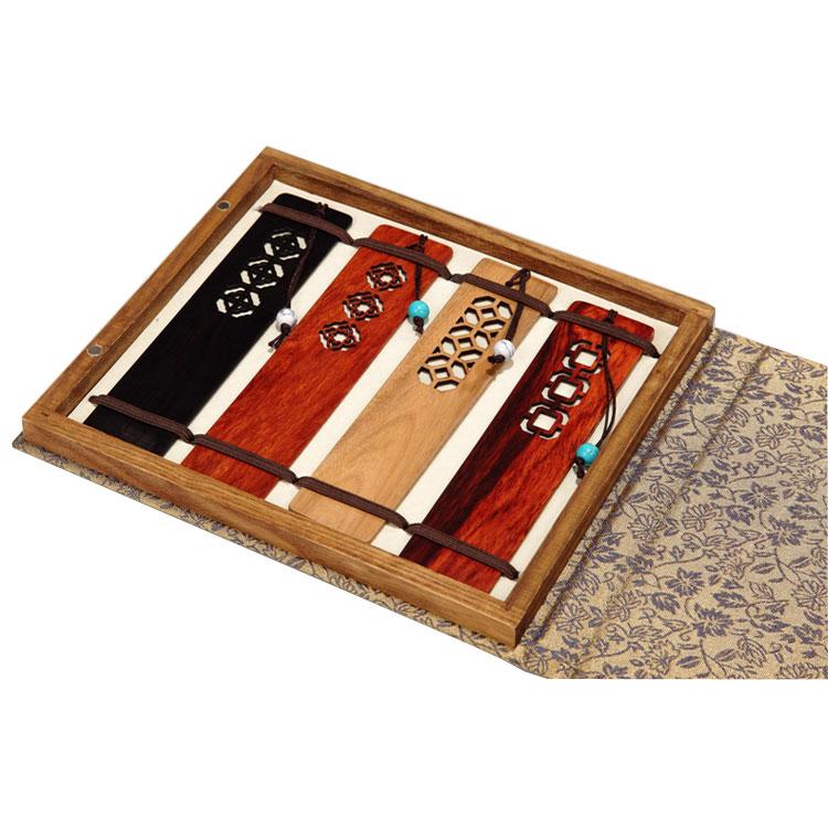 梅蘭竹菊窗欞書簽四件套裝