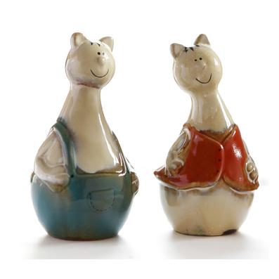 陶瓷工艺对猫 家居摆设 陶瓷工艺饰品