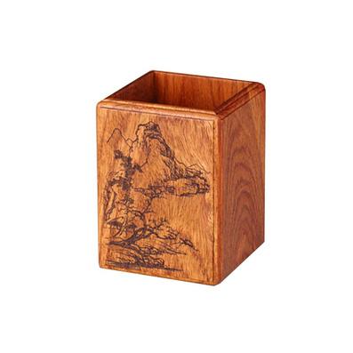 元寶線方筆筒 精品木質 抽拉紙盒無手袋 精細雕鏤