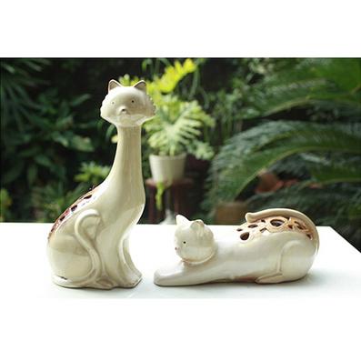 陶瓷家居擺設鏤空工藝貓