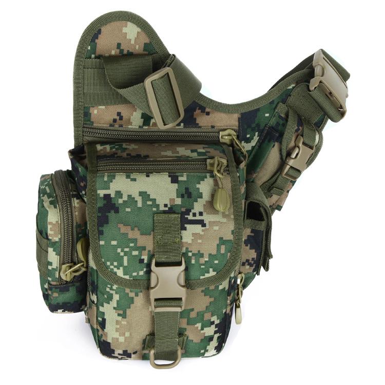 户外运动迷彩单肩斜跨包  多功能战术包定制