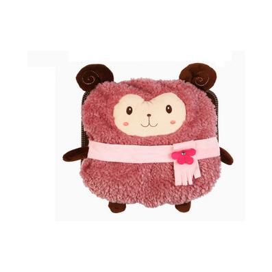 高檔毛絨印花系列可愛電熱水袋 小動物暖手寶電暖袋