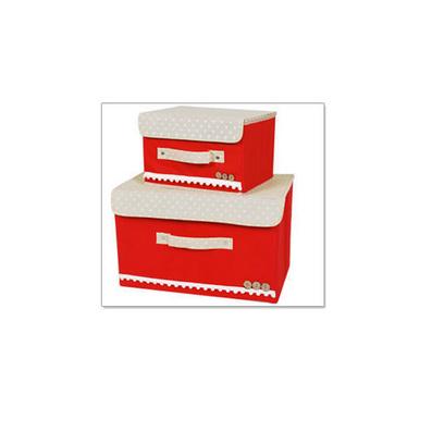 收納箱兩件套批發 無紡布收納箱 收納盒 收納盒定制