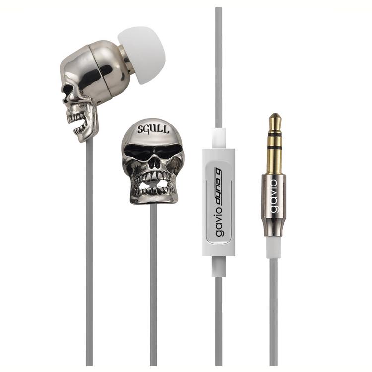 个性骷髅头入耳式耳机定制