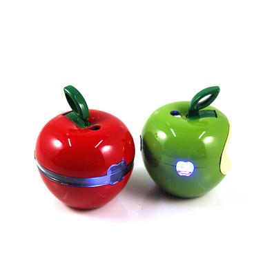 闪灯圆苹果创意金属明火打火机定制