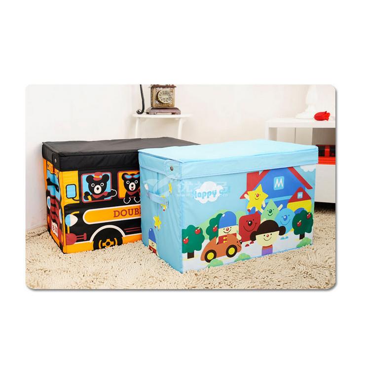 miki house特大号卡通玩具收纳箱 牛津布收纳箱 高档房型玩具箱