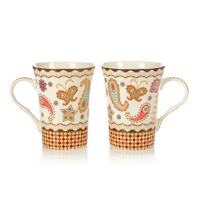 雅致花韵情侣杯 创意杯 骨瓷马克杯