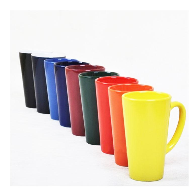 單色釉大容量強化瓷漏斗杯