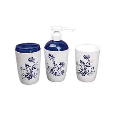 青花圖中國風浴室三件套 牙刷架漱口杯乳液杯