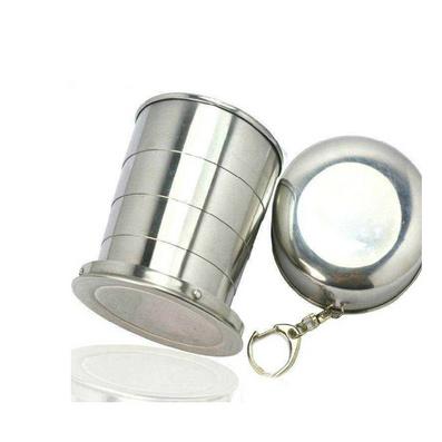 戶外野營便攜不銹鋼伸縮杯可折疊杯折疊水杯、酒杯、茶杯定制