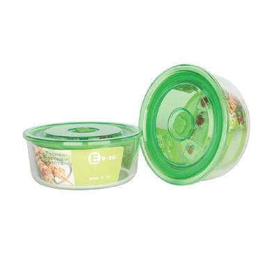 圓形玻璃保鮮碗兩件套定制